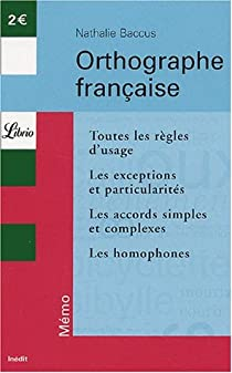 Orthographe française par Baccus