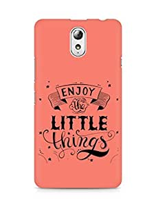 AMEZ enjoy the little things 2 Back Cover For Lenovo Vibe P1M