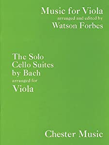 Js Bach The Solo Cello Suites Viola Music For Viola from Chester Music