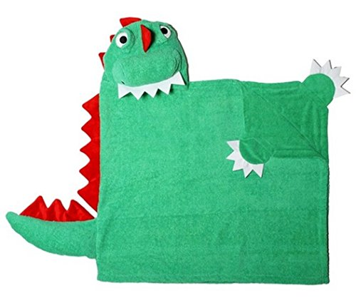 ZOOCCHINI Devin the Dinosaur Hooded Towel