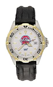 Detroit Pistons Mens NBA All-Star Watch (Leather Band) by NBA Officially Licensed