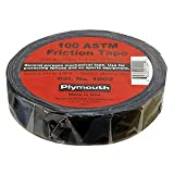 "Plymouth 1002 General Purpose Friction Tape, 60 Length x 3/4"" Width, Black (Case of 100)"
