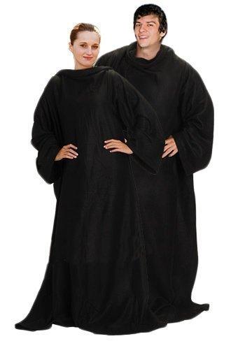 black-soft-warm-cosy-snuggle-tv-blanket-fleece-snug-sleeves-sleeved-rug