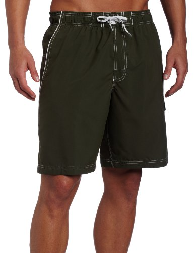 Speedo Men's Solid Marina Volley Watershort, Eco Green, X-Large