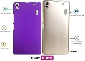 For Lenovo K3 Note[COMBO OFFER]: Unistuff™ Matte Finish Hard Case Back Cover for Lenovo K3 Note [SLIM FIT][FREE SHIPPING] (Purple, Golden)