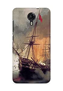 Amez designer printed 3d premium high quality back case cover for Micromax Canvas Xpress 2 E313 (Painted ship)