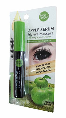 2 packs of Baby Bright Apple Serum Big Eye Mascara. Waterproof Extra Volume Super black. (8 g/ pack) (Cheap Colored Contact Lenses compare prices)