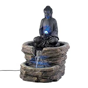 Amazon.com: Zen Serenity Buddha Home Decor Electric Water Fountain ...