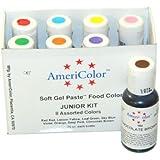 AmeriColor Soft Gel Paste Food Color, Junior Kit-8 assorted colors,0.75 oz bottles