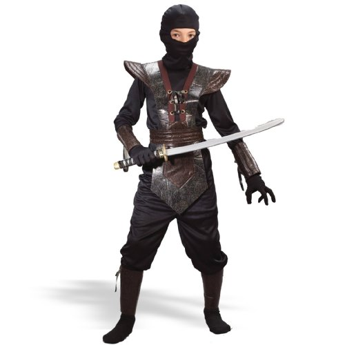 Leather Ninja Fighter Child Costume - Kid's Costumes