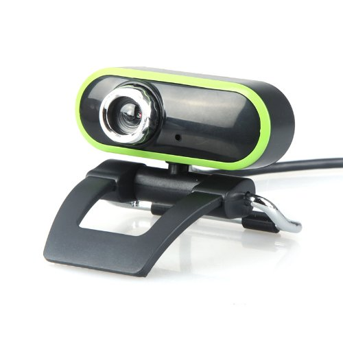 Kingzer USB 2.0 50.0M HD Webcam Camera Web Cam With MIC For PC Laptop Green Black