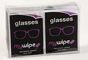 MYWIPE Optical Lens & 3D Glasses Spectacle Cleaning Cloth Wet Wipes x 20 - ***NEW IMPROVED FORMULA