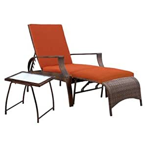 ThresholdTM Madaga 3 Piece Wicker Patio Chaise Lounge Set Oran