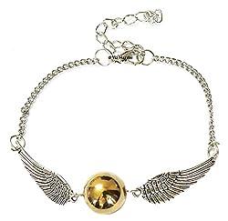 Via Mazzini Metal Harry Potter Snitch Single Strand Bracelet For Unisex