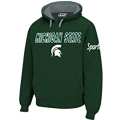 Michigan State Spartans Mens Green Embroidered Combo Hooded Sweatshirt by E5