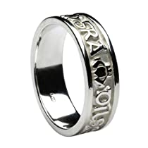 Wedding Bands Classic Bands Domed Bands Sterling Silver 7mm Half-Round Band Size 13.5