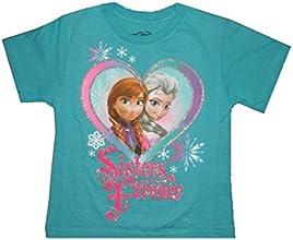 Disney Frozen Anna Elsa Girls Short Sleeved T-Shirt