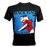 Lectro Men's Black Flag My War Album Punk Rock Band T-Shirt