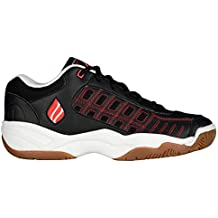 Ektelon Men S NFS Classic II Black White Red Leather Low Racquetball Shoes 8 D M US