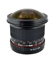 Samyang SYHD8M-N 8mm f/3.5 HD Fisheye Fixed Lens with Removable Hood for Nikon