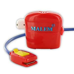 Malem Red Single Tone Bedwetting Enuresis Alarm [Health and Beauty]