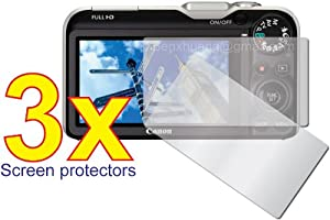 3x Canon PowerShot SX230 IS SX220 IS Digital Camera Premium Clear LCD Screen Protector Cover Guard Shield Flim Kit, Perfect fit with Full Protection!