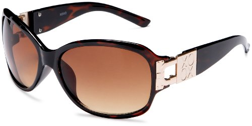 XOXO Women's Lockdown Oversized Sunglasses,Tort
