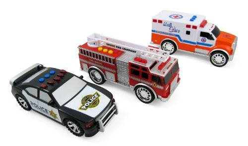 3-in-1-Emergency-Vehicle-Toy-PlaySet-for-Kids-w-Lights-and-Sounds-Fire-Truck-Police-Car-Ambulance