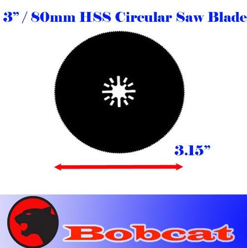 "3"" Hss 80Mm Circular Round Metal Cut Oscillating Multi Tool Saw Blades For Fein Multimaster Bosch Multi-X Craftsman Nextec Dremel Multi-Max Ridgid Dremel Chicago"