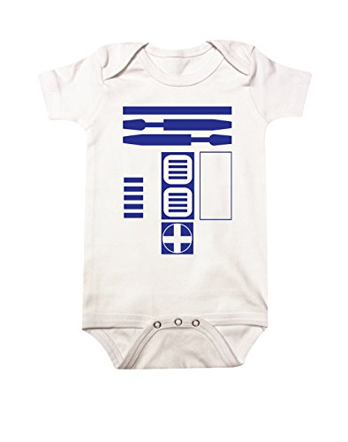 Star Wars R2D2 Baby Bodysuit NB White