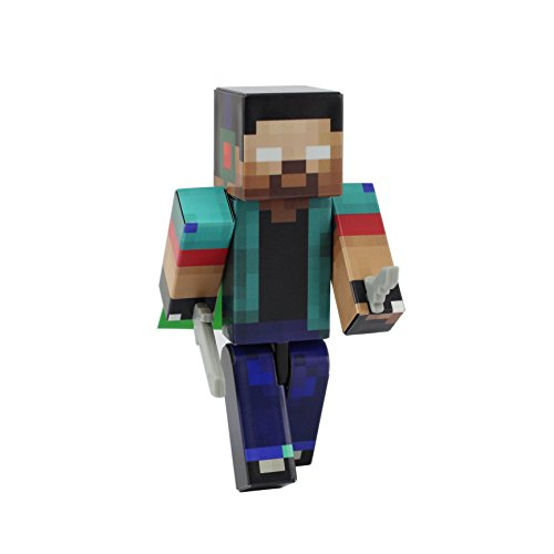 """Herobrine - 4"""" Action Figure Toy, Plastic Craft by EnderToys"""