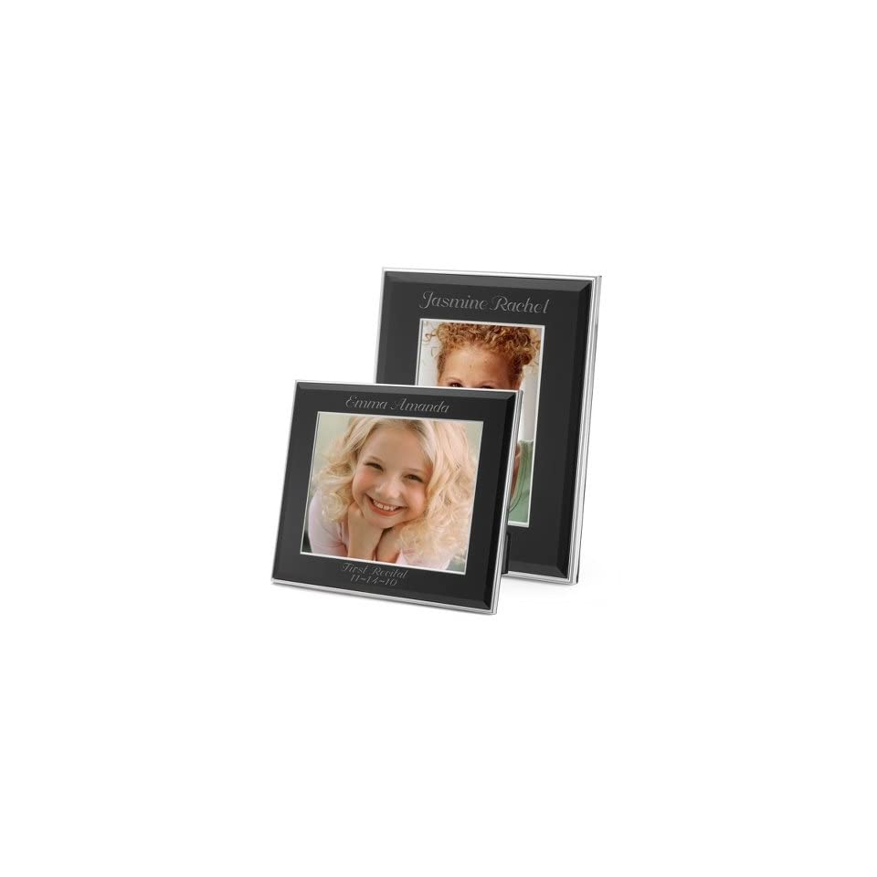Personalized Black Glass Picture Frames