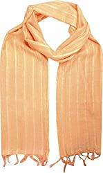 Sahiba Creation trendy and colourful women stole for all time wear(light orange)