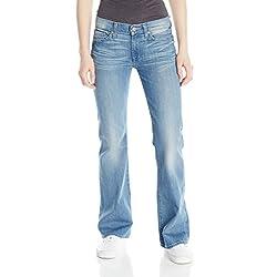7 For All Mankind Women's Petite Boot Cut Short Inseam Jean