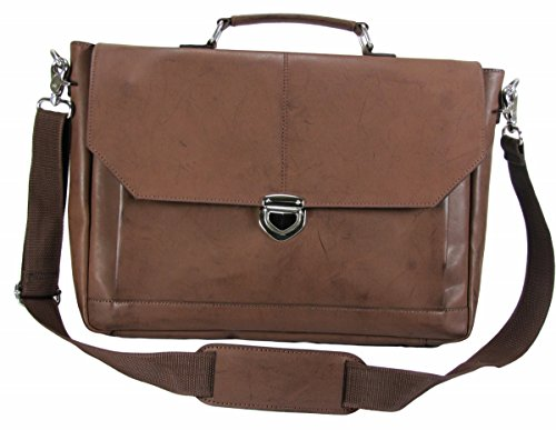The House Of Tara Synthetic Leather Laptop And Office Bag (Coco Color)