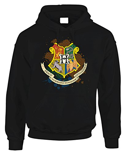 Felpa con cappuccio Harry Potter Hogwarts Houses - in cotone by Fashwork