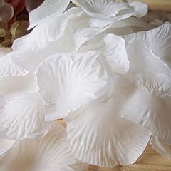 1000pcs White Silk Rose Petals Artificial Flower Wedding Party Vase Decor Bridal Shower Favor Centerpieces Confetti