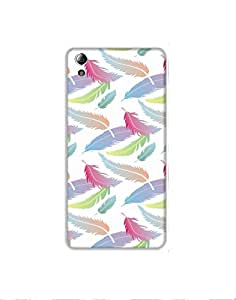 LENOVO A 6000 Plus Pattern-with-colorful-feathers-01 Mobile Case (Limited Time Offers,Please Check the Details Below)