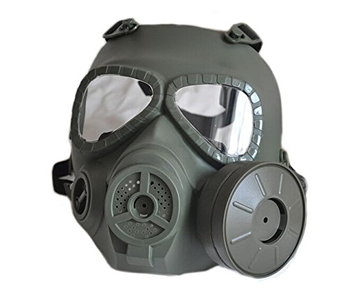 R REIFENG Airsoft Paintbal Dummy Gas Mask Fan for Cosplay Pr