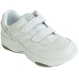 Dr Zen Sport 1 Men\'s Therapeutic Diabetic Extra Depth Shoe: White 9.5 X-Wide (2E) Velcro