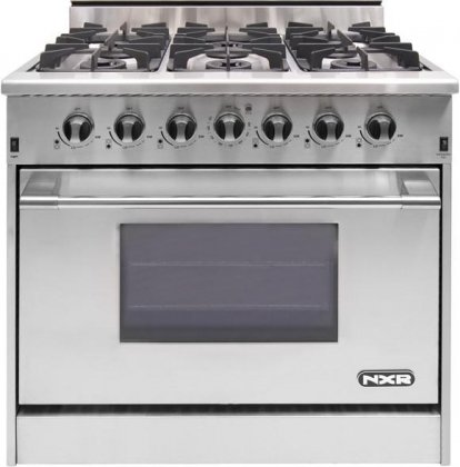 NXR-DRGB3602-Professional-Style-Gas-Range-36-Stainless-Steel