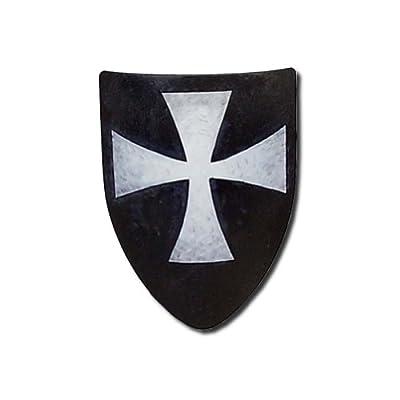 Hospitaller Medieval Shield - 16 Gauge Steel Battle Ready - White - One Size