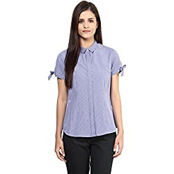 Annabelle by pantaloons Women's Casual Shirt (205000005551309_Navy_XL)