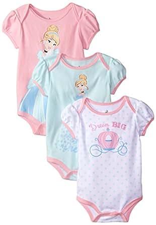 Amazon Disney Baby Girls Cinderella Bodysuit Pack