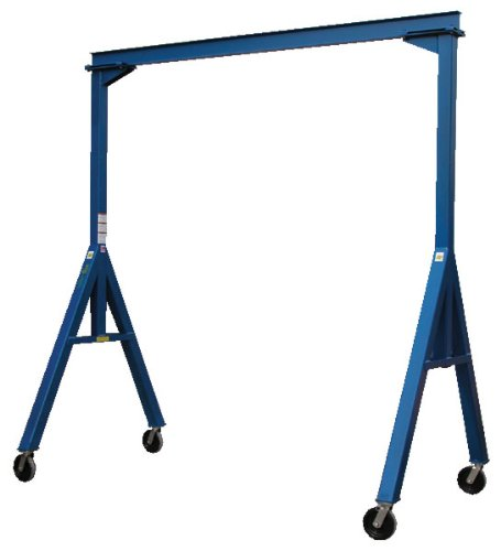 Vestil FHS-4-10 Fixed Height Steel Gantry Crane, 4000 lbs Capacity, 10' Length x 8