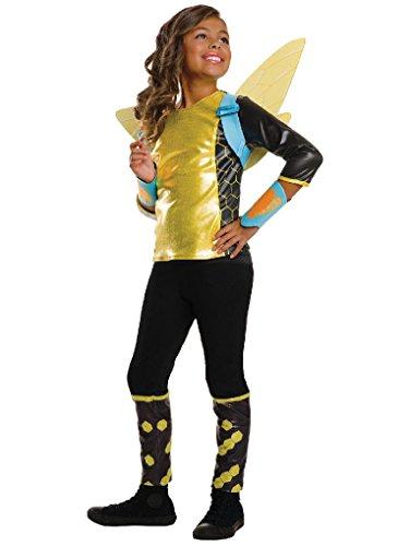 [Mygems DC SuperHero Bumblebee Deluxe Costume for Kids] (Eye Makeup For Bumble Bee Costume)