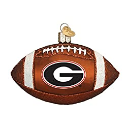Old World Christmas Georgia Football Glass Blown Ornament