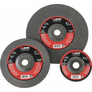 Firepower 1423-3186 Type 27 Depressed Center Grinding Wheel Without Hub, 4-1/2-Inch Diameter, 0.045-Inch Width With 7/8-Inch Hole