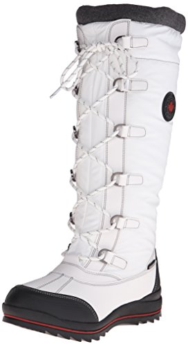 Cougar Women's Canuck Snow Boot, White, 8 M US
