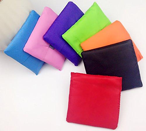 Espandibile Borse riutilizzabili per la spesa Shopping Tote Bags minima è Grocery Handy Shopper Bag, Borsa da viaggio, Poliestere, mehrfarbig, 7